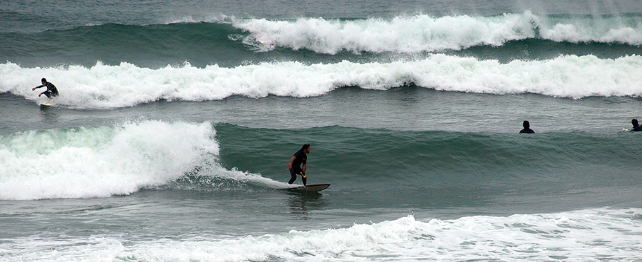 Surf at Shiomi, Japan.